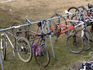 内子小田川シクロクロス大会 泥まみれになった自転車